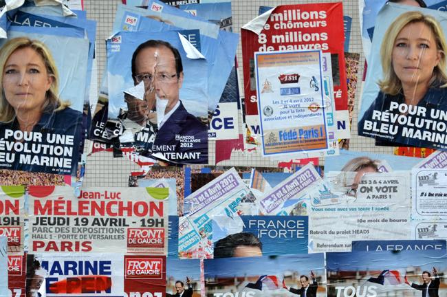 Affiches électorales en 2012 cc Julien J