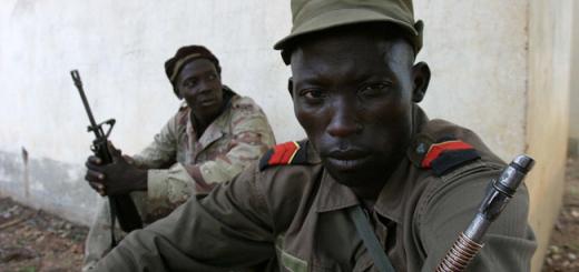Un camp rebelle en République centre-africaine.