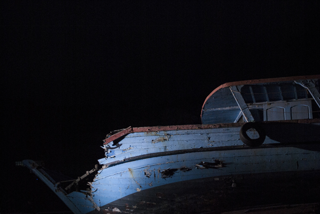 Le cimetière de bateaux de l'île de Lampedusa cc Claudio Riccio