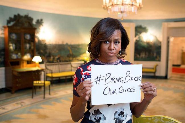 Michelle Obama, première dame des États-Unis dit #BringBackOurGirls cc Michelle Obama