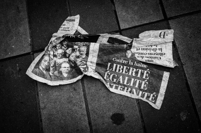 Paris, après les attentats début janvier cc John Perivolaris
