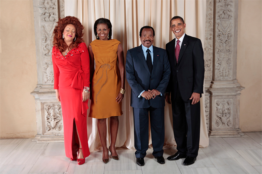 Paul Biya en 2009 cc The White House