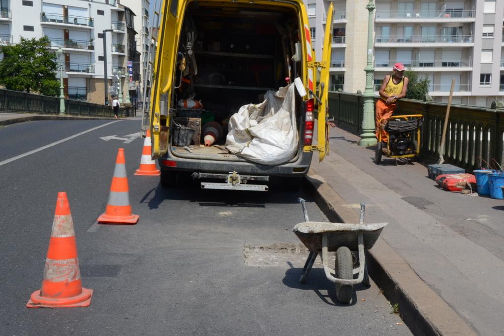 Des travailleurs du BTP sur un chantier à Nantes en 2013. Crédit photo : Thibault Dumas.