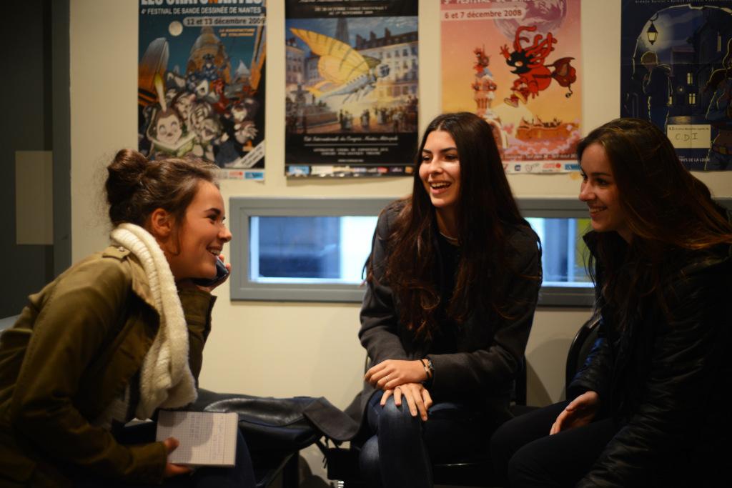 Des élèves du lycée Nicolas Appert (Orvault) © Laura Burel et Thibault Dumas