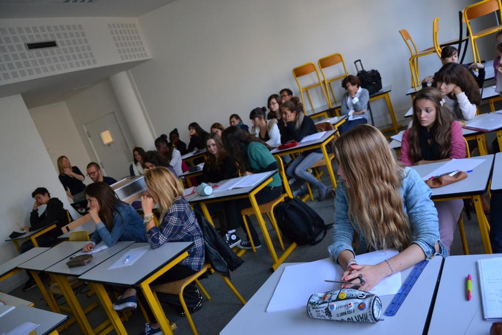 Des élèves du lycée Nicolas Appert (Orvault) © Thibault Dumas