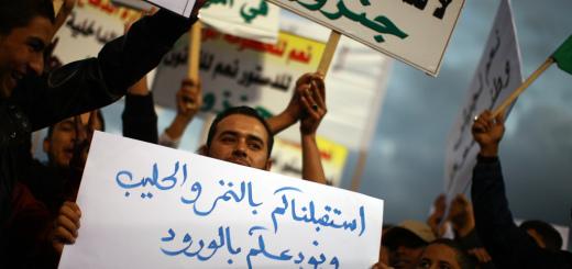 Manifestants pacifistes en Libye, en 2011 CC UN Photo/Iason Foounten