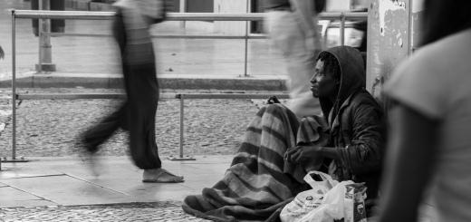 Un sans-abris dans les rues de Lisbonne, 2011 CC Rui Duarte