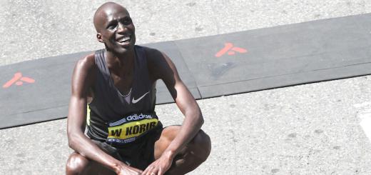 Wesley Korir à la fin du marathon de Boston  CC Hyunah Jang  - Boston University News Service (2)